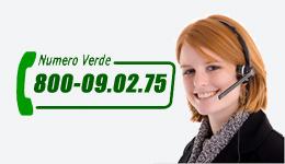 Chiama al numero verde!